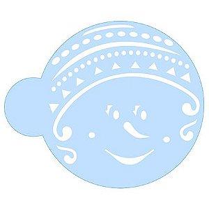 Stencil Boneco de Neve SCCN019 Litoarte Rizzo Confeitaria