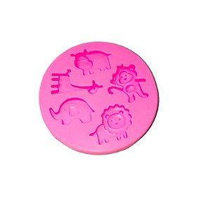 Molde de Silicone Animais S418 Molds Planet Rizzo Confeitaria