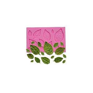Molde de Silicone Folhas S338 Molds Planet Rizzo Confeitaria