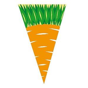 Cone Cenoura 18 X 30 cm com 50 un. Cromus Rizzo Confeitaria