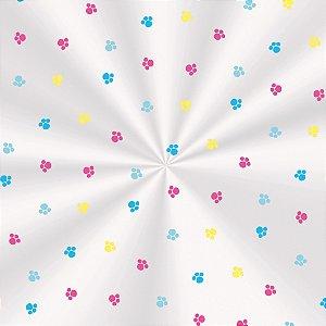 Saco Transparente 11 X 19,5 Fantasia Colorida com 100 un. Cromus Rizzo Confeitaria