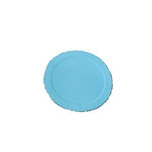 Base para Bolo Cake Board Redondo Azul 24 cm Ultrafest Rizzo Confeitaria