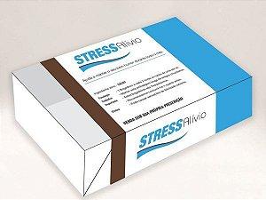 Caixa Divertida Stress Alívio Azul e Marrom Ref. 476 - 6 doces com 10 un. Erika Melkot Rizzo Confeitaria