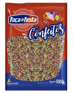 Confeito Miçanga 4 Cores Faça a Festa Rizzo Confeitaria