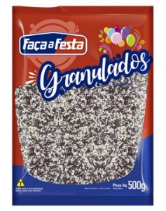 Granulado Mesclado Crocante 500g Faça a Festa Rizzo Confeitaria