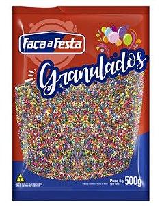 Granulado Colorido Crocante 500g Faça a Festa Rizzo Confeitaria