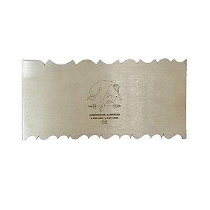 Espátula Decorativa para Bolo em Inox Mod. 26 NP Rizzo Confeitaria