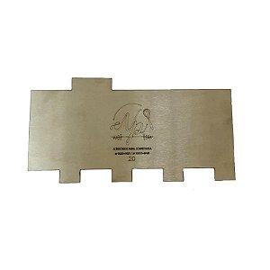 Espátula Decorativa para Bolo em Inox Mod. 20 NP Rizzo Confeitaria
