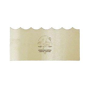 Espátula Decorativa para Bolo em Inox Mod. 10 NP Rizzo Confeitaria