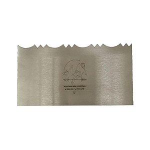 Espátula Decorativa para Bolo em Inox Mod. 9 NP Rizzo Confeitaria