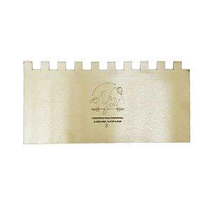 Espátula Decorativa para Bolo em Inox Mod. 3 NP Rizzo Confeitaria