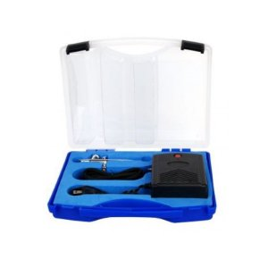 Kit Aerógrafo Profissional - Mod. KA-0283 com Mini Compressor Ferimte Rizzo Confeitaria