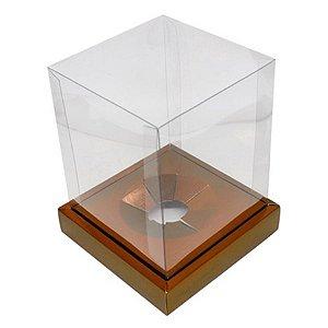Caixa Ovo em Pé - Ovos de 250g a 350g - Marrom - 15 x 15 x 18,85 cm - 5 un - Assk Rizzo Confeitaria