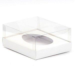 Caixa Ovo de Colher - Meio Ovo de 350g - Branca - 20,5 x 17 x 6,5 cm - 5 un - Assk Rizzo Confeitaria