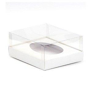 Caixa Ovo de Colher - Meio Ovo de 250g - Branca - 15 x 13 x 6,5 cm - 5 un - Assk Rizzo Confeitaria