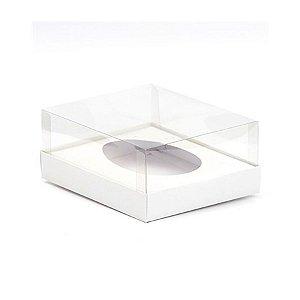 Caixa Ovo de Colher - Meio Ovo de 100g a 150g - Branca - 11 x 12,7 x 7,5 cm - 5 un - Assk Rizzo Confeitaria