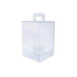 Caixa Ovo em Pé - Maleta - Transparente de Acetato com Berço 350 gr com 10 un. CAC Rizzo Confeitaria
