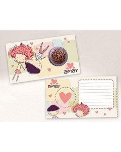Cartão Blister Amar é Ref. 546 com 10 un. Erika Melkot Rizzo Confeitaria
