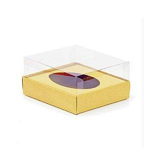 Caixa Ovo de Colher - Meio Ovo 100g - Ouro - 11 x 12,7 x 7,5 cm - 5 un - Assk Rizzo Confeitaria