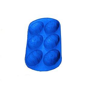 Forma de Silicone Ovo de Páscoa Decorado G Ke Home Rizzo Confeitaria