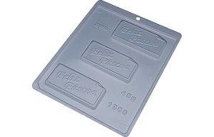 Forma de Acetato Placa 45g Feliz Páscoa 1380 BWB Rizzo Confeitaria
