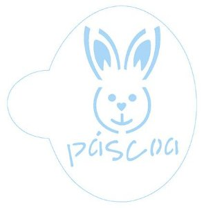 Stencil Coelho Páscoa SC2-034 Litoarte Rizzo Confeitaria