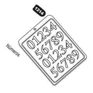 Forma de Acetato Números Mod.1214  Crystal Rizzo Confeitaria