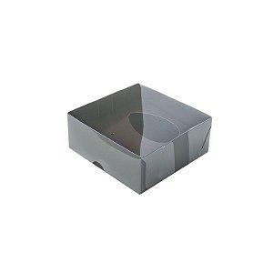 Caixa Ovo de Colher - Meio Ovo 50g - Marrom - 10 x 10 x 4 cm - 5 un - Assk Rizzo Confeitaria