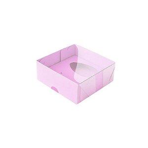 Caixa Ovo de Colher - Meio Ovo 50g - Rosa - 10 x 10 x 4 cm - 5 un - Assk Rizzo Confeitaria