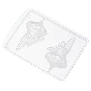 Forma de Acetato Coelho Orelha Dobrada Pirulito - 547 Crystal Rizzo Confeitaria