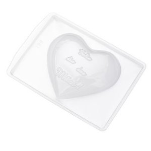 Forma de Acetato Coração Feliz Dias das Mães 299 Crystal Rizzo Confeitaria