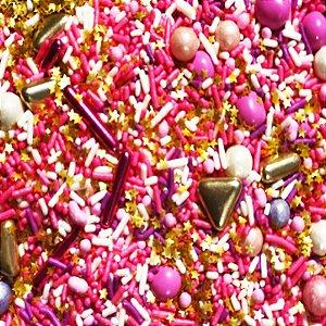 Fairy Sprinkles Rosa 2 Especial 150 gr Rizzo Confeitaria