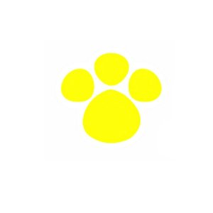 Adesivo Patinha Amarelo M 6,5cm x 6cm - 50 Unidades - Decora Doces Rizzo Confeitaria