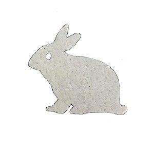 Papel Arroz Comestível Coelho Branco Sentado Mod.14 Amo Confeitaria Rizzo Confeitaria