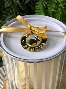 Tag Decorativo Páscoa Coelho Dourado com 4 un. Vivarte Rizzo Confeitaria