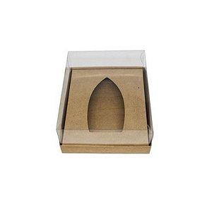 Caixa Barca de Chocolate 1 Cavidade G - Kraft - 20,5 x 17 x 6,5 cm - 5 un - Assk Rizzo Confeitaria