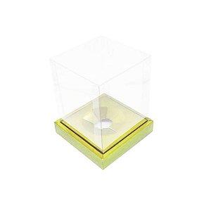 Caixa Ovo em Pé - Ovos de 250g a 350g - Ouro - 15 x 15 x 18,85 cm - 5 un - Assk Rizzo Confeitaria