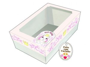Caixa Ovo de Colher Coroa Ref. 906 com 2 un. Erika Melkot Rizzo Confeitaria