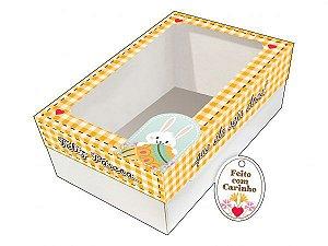 Kit Confeiteiro - Caixa Ovo de Colher Amarela Ref. 399 com 2 un. Erika Melkot Rizzo Confeitaria