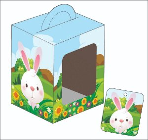 Caixa Ovo em Pé - Ovos de 100g - 9 X 9 X 11 cm - 3 un - Erika Melkot Rizzo Confeitaria