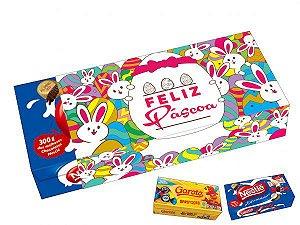 Capa Caixa de Chocolate Feliz Páscoa Ref. 858 com 3 un. Erika Melkot Rizzo Confeitaria