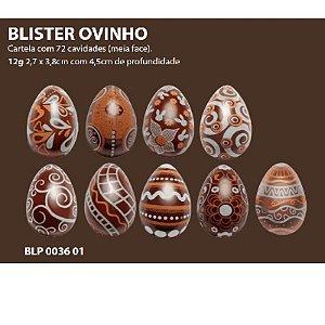 Blister Decorado com Transfer para Chocolate Ovinhos BLP0036 Stalden Rizzo Confeitaria