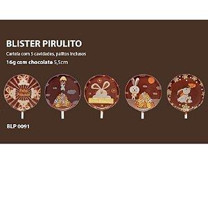 Blister Decorado com Transfer para Chocolate Pirulito de Páscoa 5cm BLP0091 Stalden Rizzo Confeitaria
