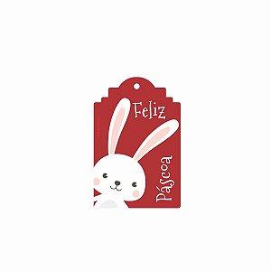 Tag Decorativa Feliz Páscoa com 12 un. Duster Festas Rizzo Confeitaria