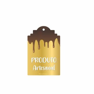Tag Decorativa Produto Artesanal com 12 un. Duster Festas Rizzo Confeitaria