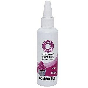 Corante SoftGel Rosa Pink 60g Mago Rizzo Confeitaria