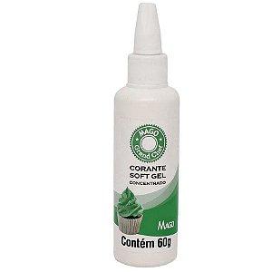Corante SoftGel Verde Folha 60g Mago Rizzo Confeitaria