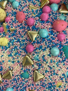 Fairy Sprinkles Páscoa Especial Azul/Rosa 150 gr Rizzo Confeitaria