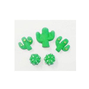 Confeitos Comestíveis Kit Cactus Ref. 182 Jeni Joni Rizzo Confeitaria