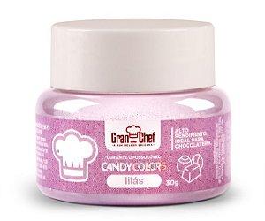 Corante em Pó Lipossolúvel Candy Colors Lilás 30g Granchef Rizzo Confeitaria